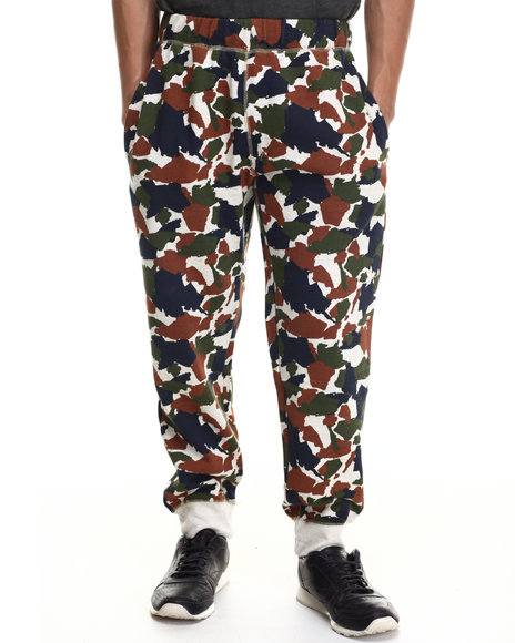 Buyers Picks - Men Camo 5 Boro Camo Fleece Sweatpants