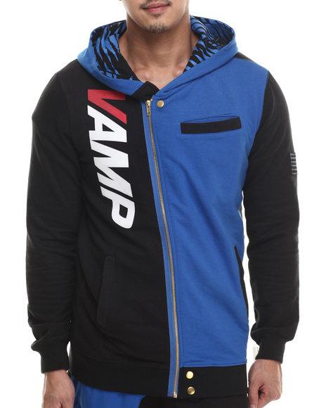 Vampire Life - Men Black,Blue Vamp Moto Sweatshirt