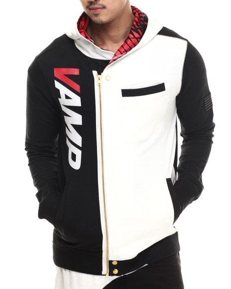 Vampire Life - Men Black,White Vamp Moto Sweatshirt