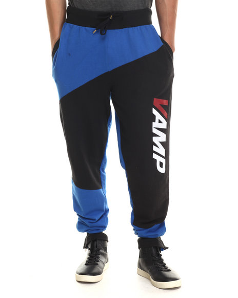 Vampire Life - Men Black,Blue Vamp Moto Sweatpants