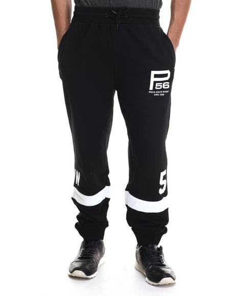 Parish - Men Black Mesh Sweatpants