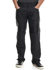 Jeans & Pants - Oil Wash Biker Denim Straight fit denim Jeans