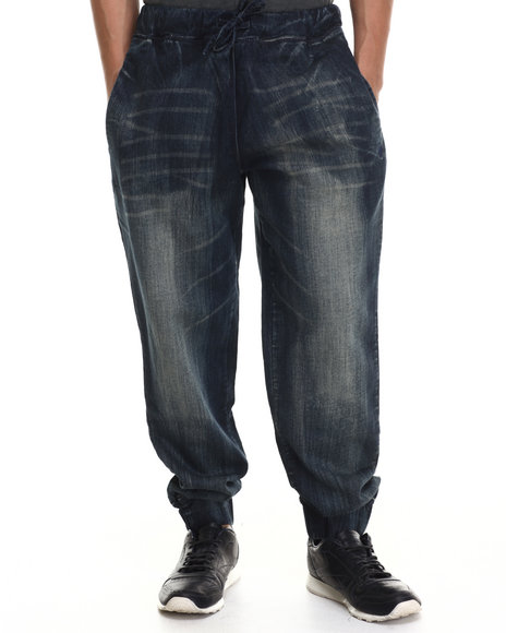 Rocawear - Men Dark Wash Utica Knit Denim Pants