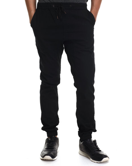 Buyers Picks - Men Black Twill Jogger Pants