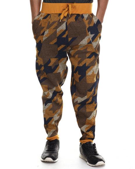 Buyers Picks - Men Tan Special Print Jogger Pants