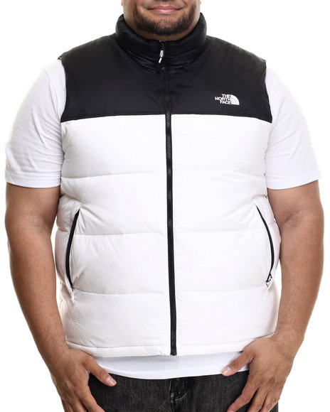 The North Face - Men White Nuptse Vest (B&T)
