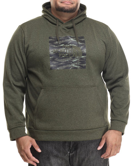 The North Face - Men Green Tiger Camo Red Boxsurgent Pullover Hoodie (B&T)