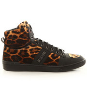 Shoes - Moschino X J.S. Leopard Hi-Top