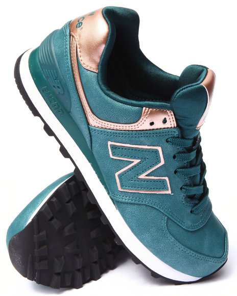 New Balance - Women Teal 574 Precious Sneakers