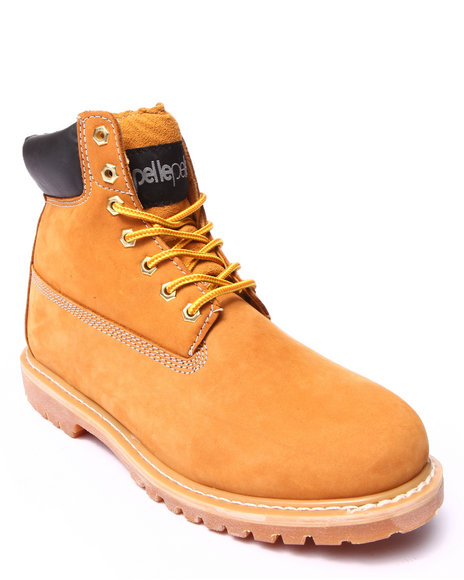 Pelle Pelle - Men Tan Pelle Classic Nubuck Leather Construction Boot - $59.99