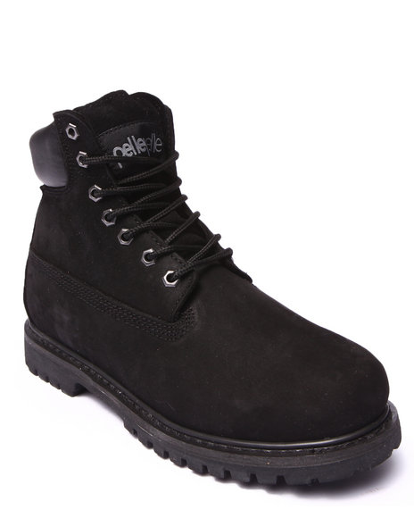 Pelle Pelle - Men Black Pelle Classic Nubuck Leather Construction Boot - $49.99