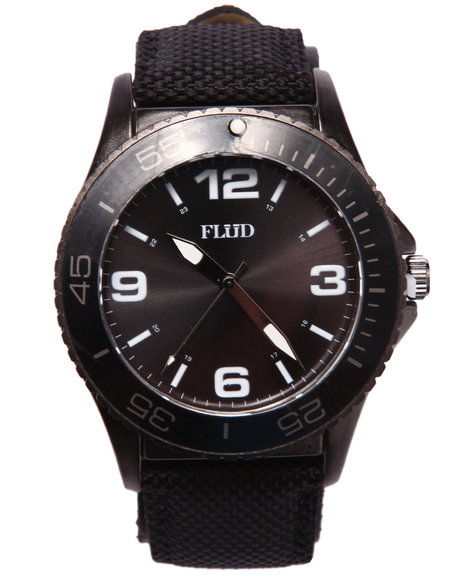 Flud Watches Men Rebel Watch Black