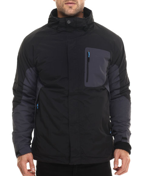 Basic Essentials - Men Black Turncoat 3 - In - 1 Systems Jacket