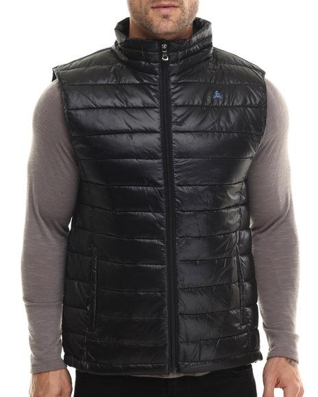 Basic Essentials - Men Black Frosty Quilted Vest