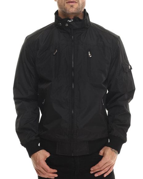Basic Essentials - Men Black Draft Lightweight Jacket