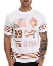 Akademiks - Dakota Copper Zip detail S/S Tee