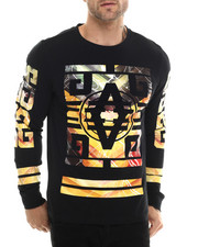 Akademiks - Perry Blk/Gold Sleeve detail Shirt