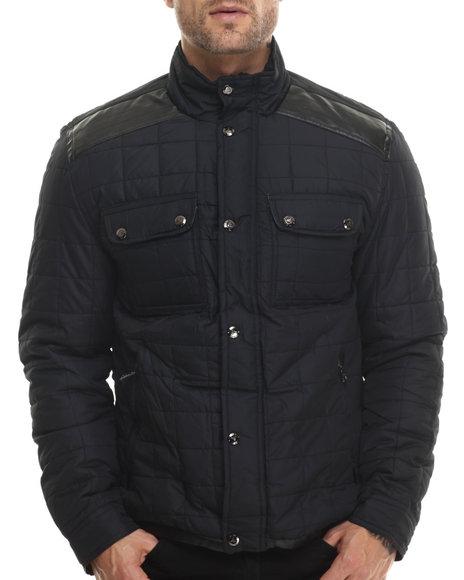 Basic Essentials - Men Black Fraser Fashion Quilted Jacket
