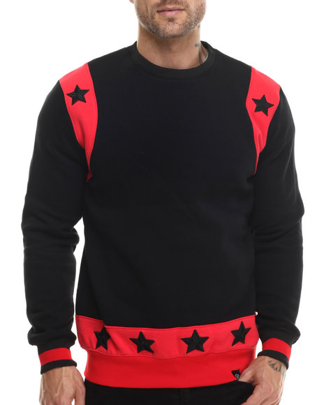 Ur-ID 200744 Hudson NYC - Men Black Celestial Bands Crewneck Sweatshirt