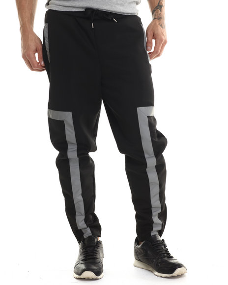 Akademiks - Men Black Forest Reflective Sweatpant - $35.99