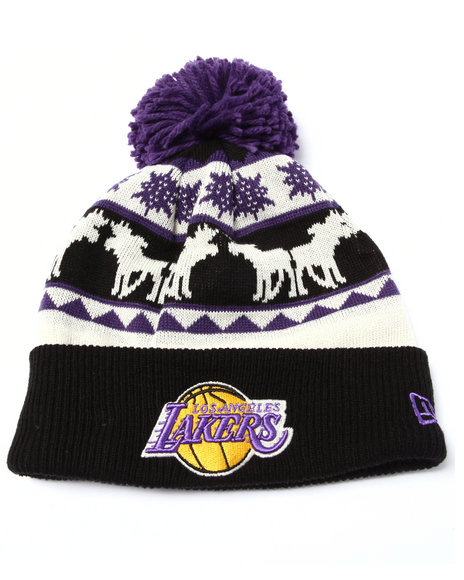 New Era Men Los Angeles Lakers Mooser Knit Hat Multi - $9.99