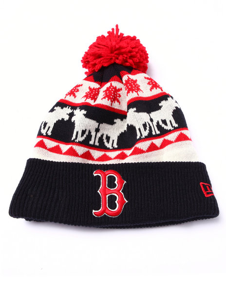 New Era Men Boston Red Sox Mooser Knit Hat Multi