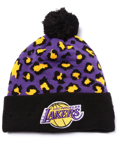 New Era Men Los Angeles Lakers Winter Jungle Knit Hat Multi - $9.99
