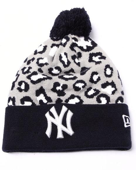 New Era Men New York Yankees Winter Jungle Knit Hat Multi