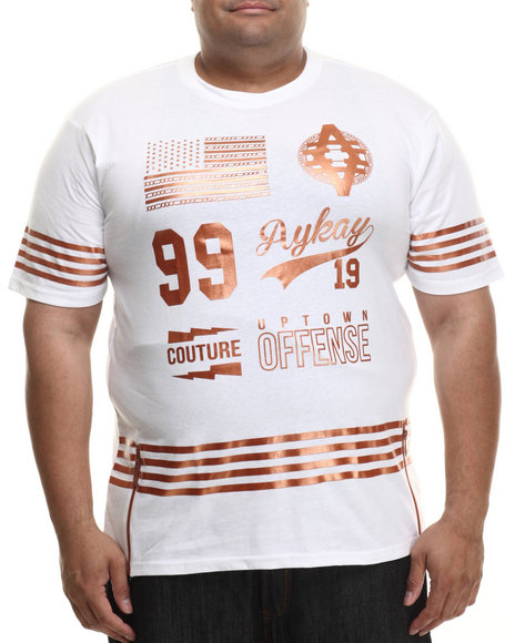 Akademiks - Men White Dakota Copper Print S/S Tee  (B&T) - $24.99