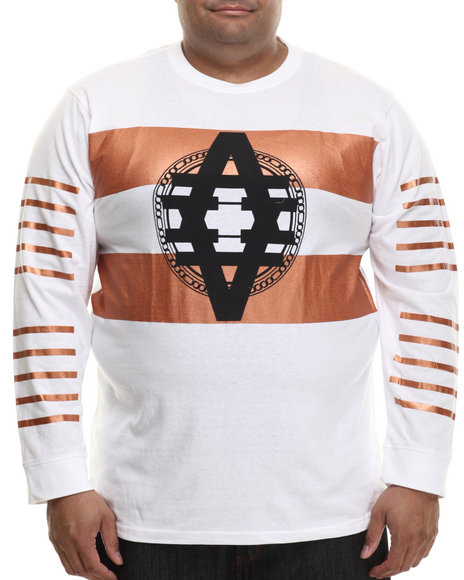 Ur-ID 200762 Akademiks - Men White Skyline Copper Detail L/S Shirt (B&T)