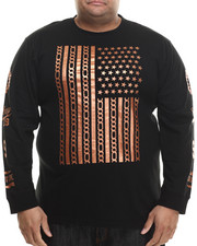Men - Ridge Copper detail Print L/S Shirt (B&T)