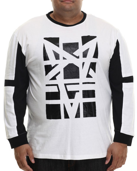 Akademiks - Men White Overlook High Density L/S Shirt (B&T) - $45.00