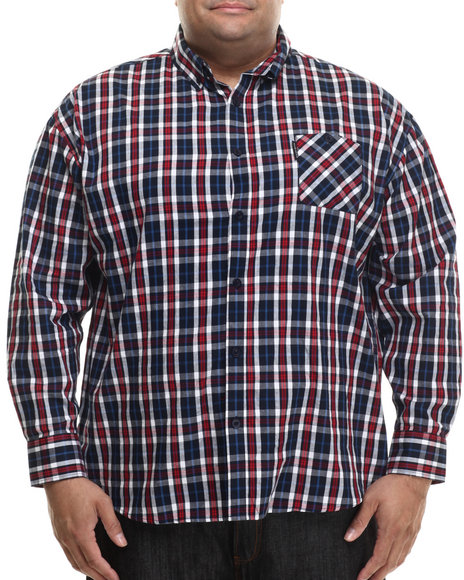 Ur-ID 200774 Ecko - Men Navy Norwood L/S Button-Down (B&T) by Ecko