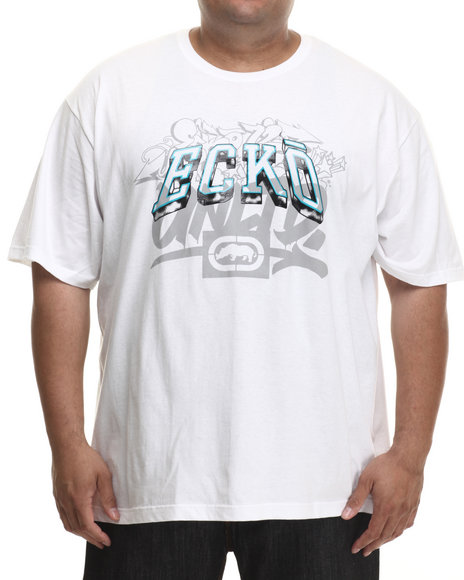 Ecko - Men White Gold Script T-Shirt (B&T)