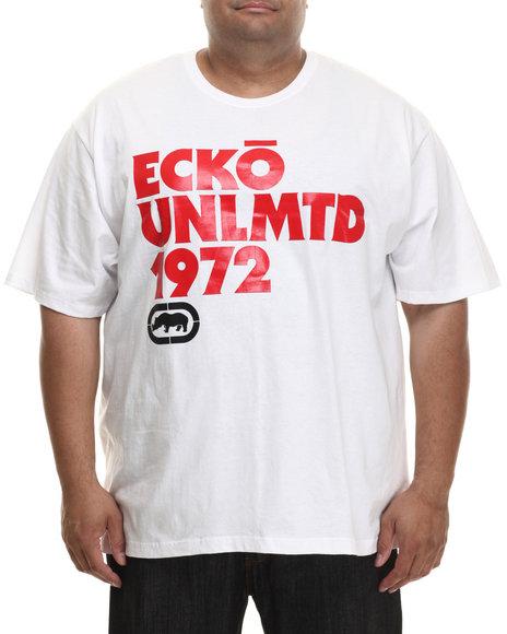 Ecko - Men White Ecko Ok Script T-Shirt (B&T)