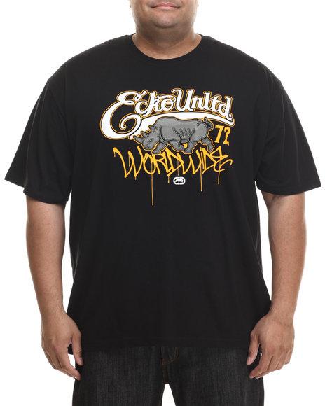 Ecko - Men Black Worldwide Drip T-Shirt (B&T)