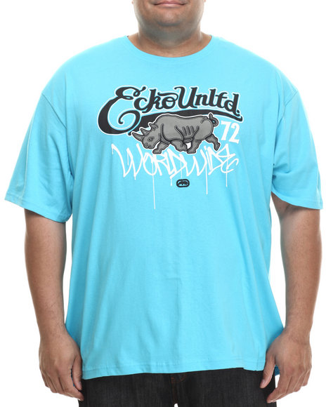 Ecko - Men Blue Worldwide Drip T-Shirt (B&T)