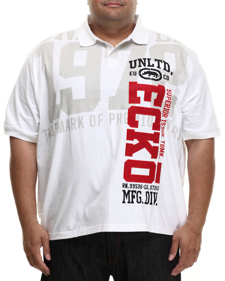 Ecko - Men White Vertical Ecko Polo (B&T)