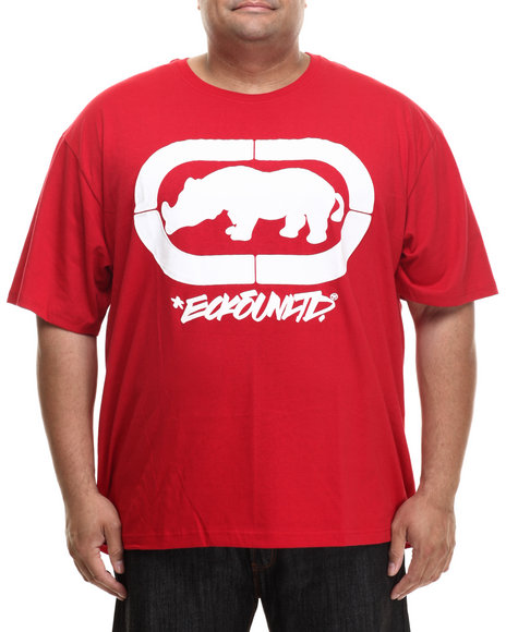 Ecko - Men Red Felt Script Rhino T-Shirt (B&T)