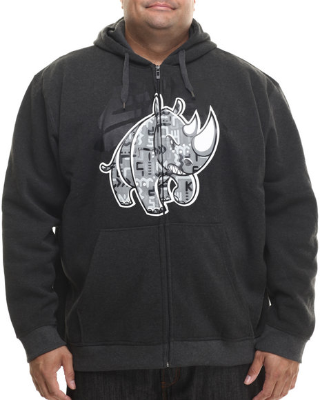 Ecko - Men Charcoal Olyphics Zip Up Hoodie
