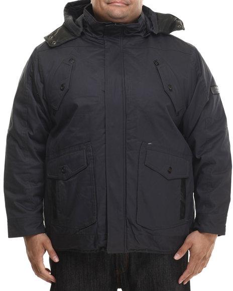 Rocawear - Men Grey Wax Cotton Twill Jacket W/ Detachable Hood (B&T)