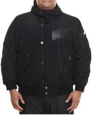 Men - Nylon Bomber Jacket w/ Attached Hood (B&T)