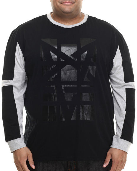 Akademiks - Men Black Overlook High Density L/S Shirt - $45.00