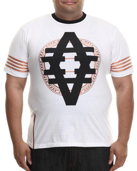 Akademiks - Men White Bennett Copper Foil Print S/S Tee (B&T)