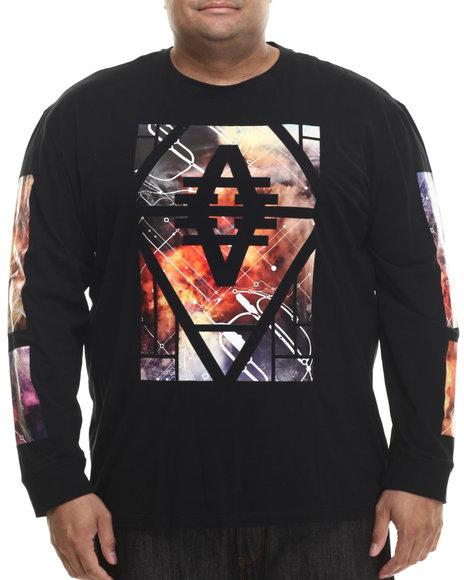 Akademiks - Men Black Crotona L/S Shirt