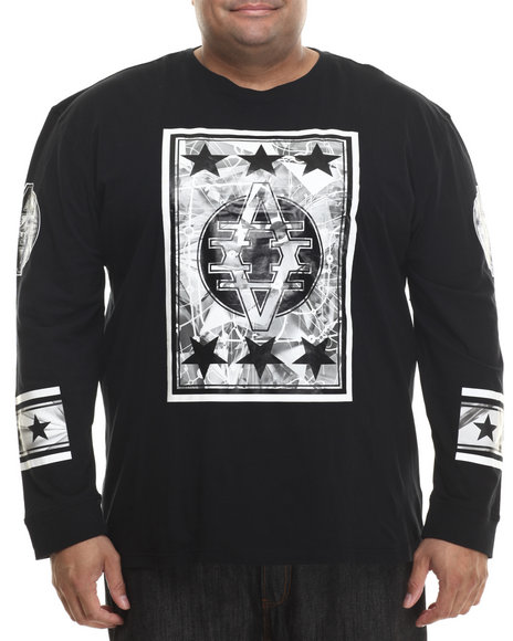 Ur-ID 200770 Akademiks - Men Black Marion L/S Shirt