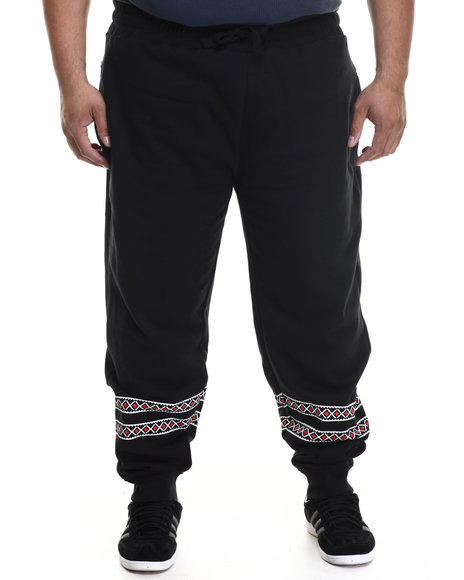 Parish - Men Black Printed Snowflake Sweatpant (B&T)