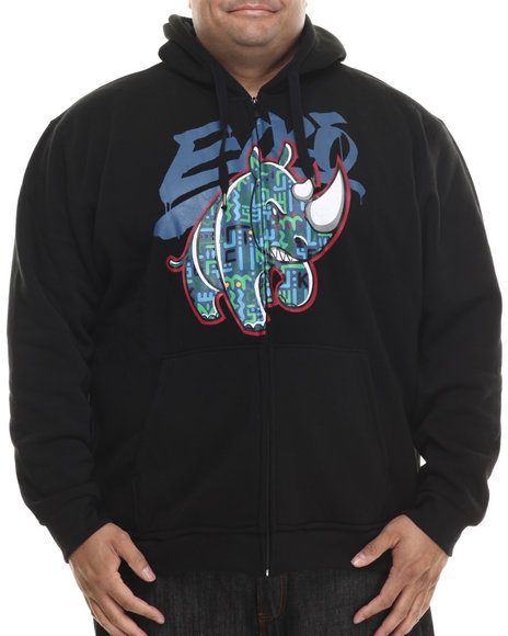 Ecko - Men Black Olyphics Zip Up Hoodie
