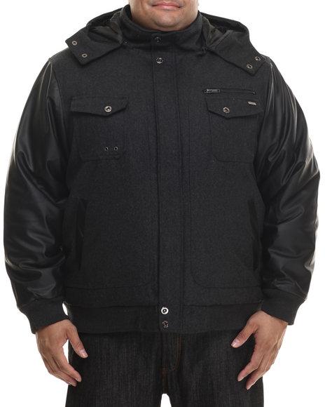 Rocawear - Men Grey Bomber Jacket W/ Detachable Hood (B&T)