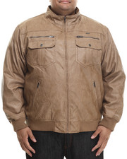 Leather Jackets - P U Garment Wash Jacket (B&T)